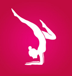 Woman yoga action sport woman pose vector