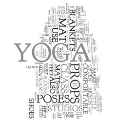 Yoga props text word cloud concept vector
