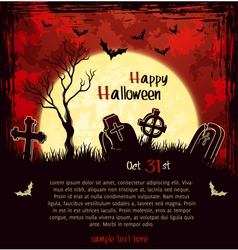 Red grungy halloween background vector