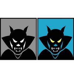Dracula halloween mask 1 vector image
