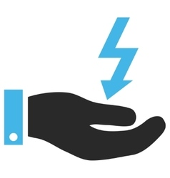 Electric energy service hand eps icon vector