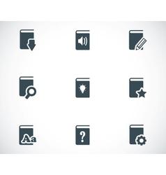 black books icons set vector image