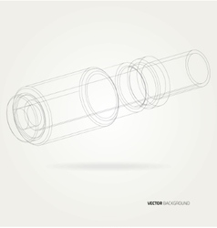 Frame pipe lines vector