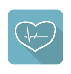 Beating heart icon vector