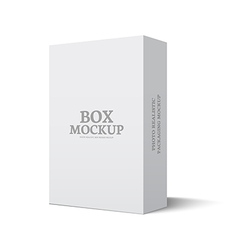 Package box mockup template isolated vector