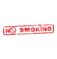 No smoking red grunge rubber stamp vector