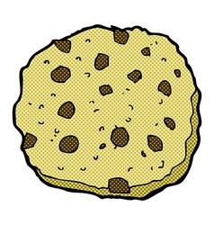 Chocolate chip cookie comic cartoon vector