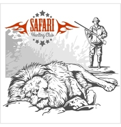 African safari and labels for vector image