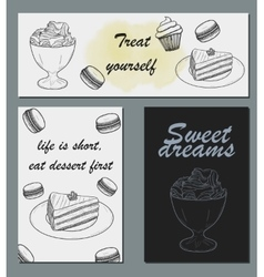 Handdrawn menu for cafe coffee house vector