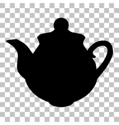 Tea maker sign flat style black icon on vector