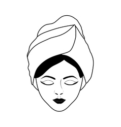 Spa center design woman face icon graphic vector