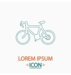 Bicycle icon computer symbol vector