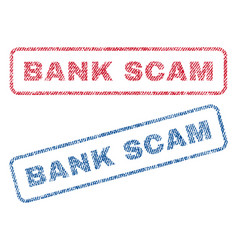 Bank scam textile stamps vector