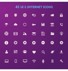 Big ui and internet icon set vector