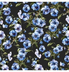 Blue flowers 2 vector