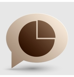 Business graph sign brown gradient icon on bubble vector
