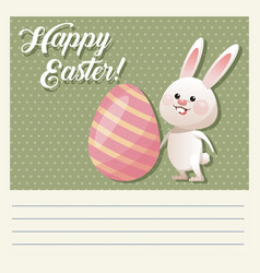 Cartoon happy easter cute bunny egg decorative vector