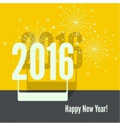 creative happy new year vector image vector image