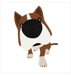 Dog with large head and nose vector
