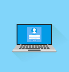 enter login and password concept vector image