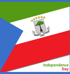 Equatorial guinea independence day vector