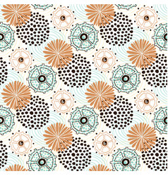 Ethnic pattern circles background for wrapping vector