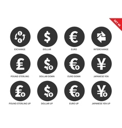 Exchange icons on white background vector image