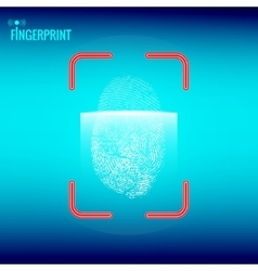 Finger print scanner vector