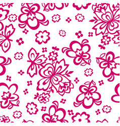flowers in the form of stencils seamless vector image