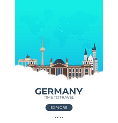 germany time to travel travel poster vector image