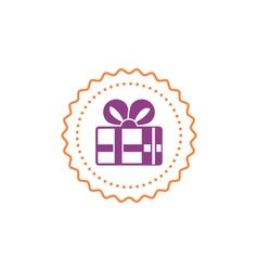 Gift box icon special present idea vector