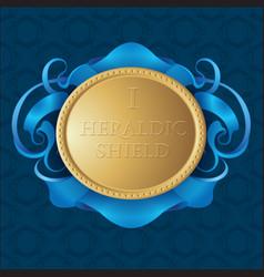 Gold heraldic shield vector