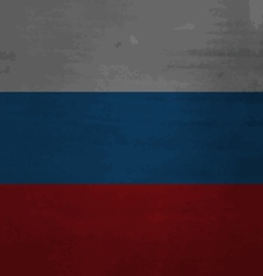 Grunge messy flag Russia vector image