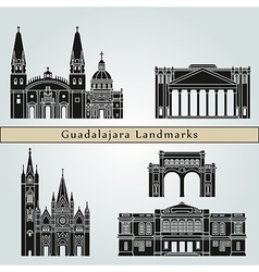 Guadalajara landmarks and monuments vector image