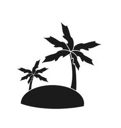 Isolated palm tree and island design vector image