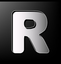 Letter r sign design template element vector