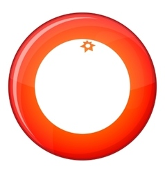 Mandarin icon flat style vector