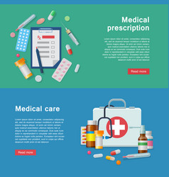 medical equipment prescription first aid supplies vector image vector image
