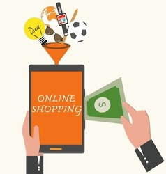 Online shopping business concept vector