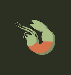 Shrimp in sticker style vector