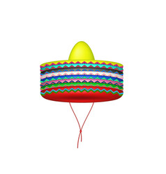 stack of sombrero hats vector image