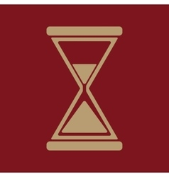 The hourglass icon clock symbol flat vector