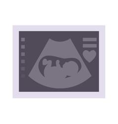 Ultrasound baby vector