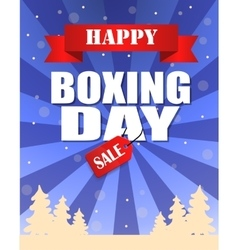 Vintage happy boxing day design vector