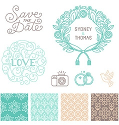 Wedding design elements vector image vector image