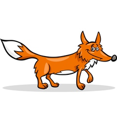 wild fox cartoon vector image