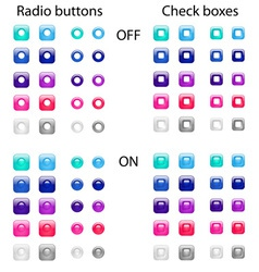 Radio and checkboxes vector