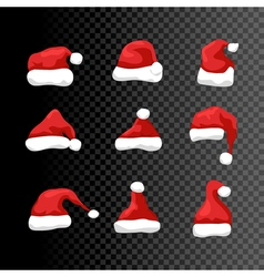 Santa hat symbol isolated holiday red hat santa vector