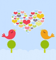 Lovebirds spring vector
