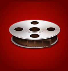 Film tape on red background vector